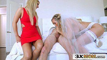 Vídeos de porno Brandi Love e Bella Rose fazendo chupeta especial na rola do rapaz até ele gozar gostosinho