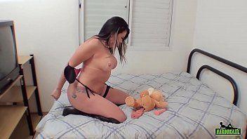 Porno irado Soraya Carioca fazendo seu último video porno
